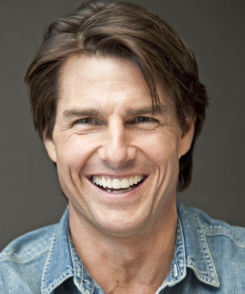 Tom Cruise Short Straight Casual Hairstyle Chocolate