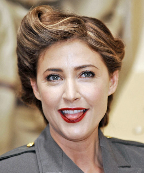 Lisa Snowdon  Long Straight Formal   Updo Hairstyle