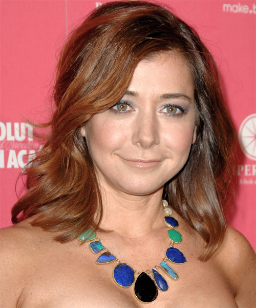 Alyson Hannigan Medium Wavy Casual   Hairstyle