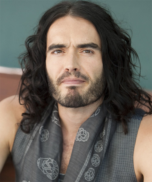 Russell Brand Long Wavy Casual Hairstyle