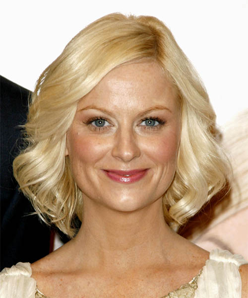 Amy Poehler Medium Wavy Casual   Hairstyle