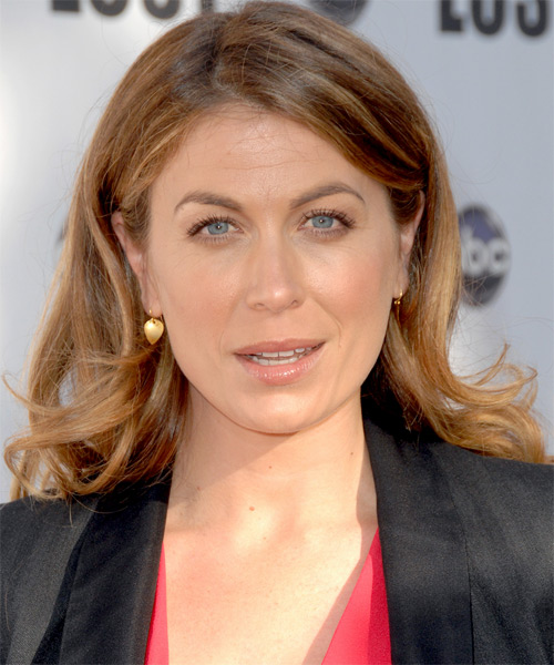 Sonya Walger Medium Wavy Casual   Hairstyle