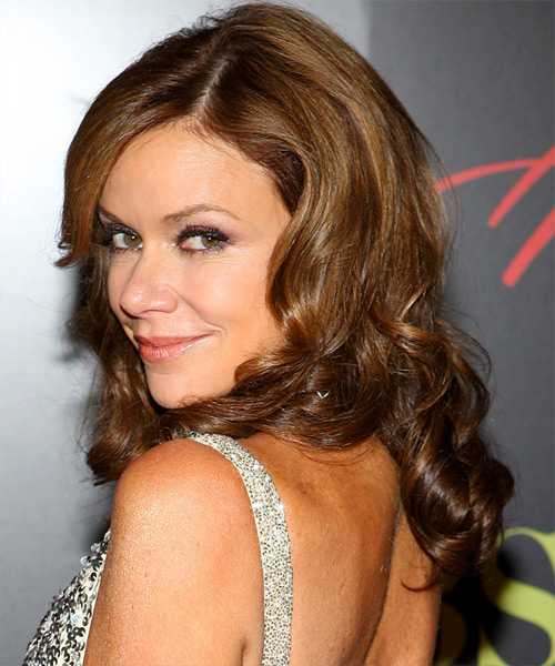 Chrishell Stause Long Wavy Formal   Hairstyle