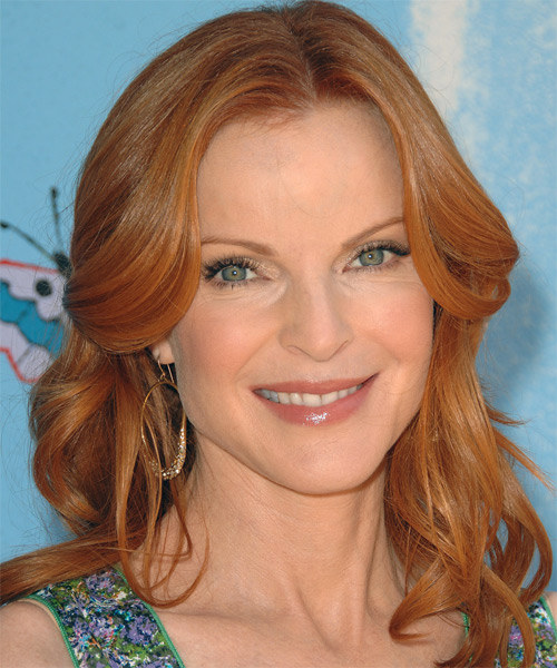 Marcia Cross Long Wavy Formal   Hairstyle