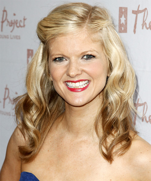Arden Myrin Half Up Long Curly Casual  Half Up Hairstyle