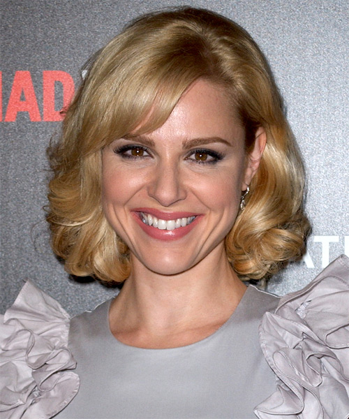 Cara Buono Medium Wavy Formal   Hairstyle