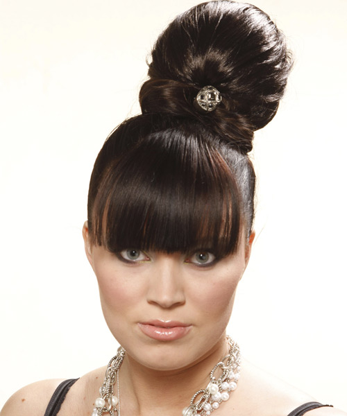 Updo Long Curly Formal  Updo Hairstyle   - Dark Brunette (Mocha)