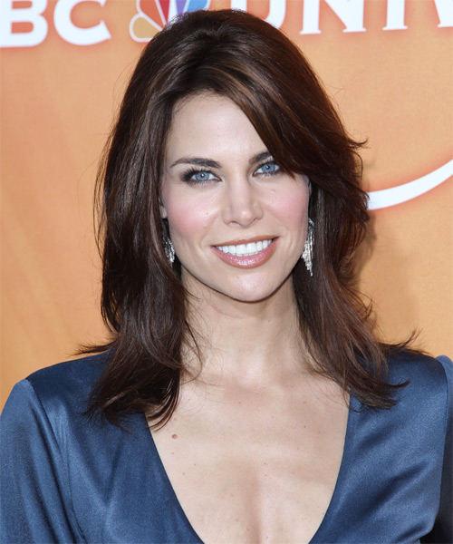 Brooke Burns Long Straight Casual   Hairstyle