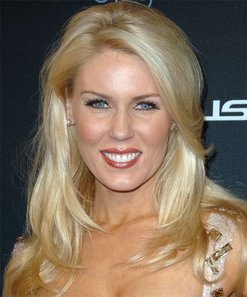 Gretchen Rossi Long Straight Formal   Hairstyle