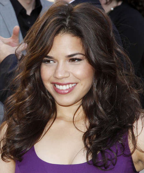 America Ferrera Long Wavy Formal   Hairstyle   (Mocha)