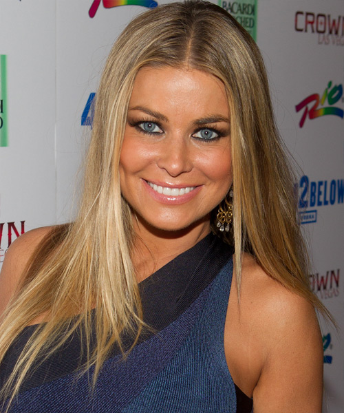 Carmen Electra Long Straight Casual   Hairstyle