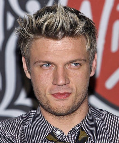 Nick Carter Short Straight Casual   Hairstyle