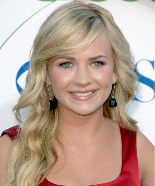 Brittany Robertson Long Wavy Formal   Hairstyle