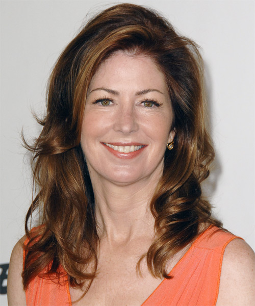 Dana Delany Long Wavy Casual   Hairstyle