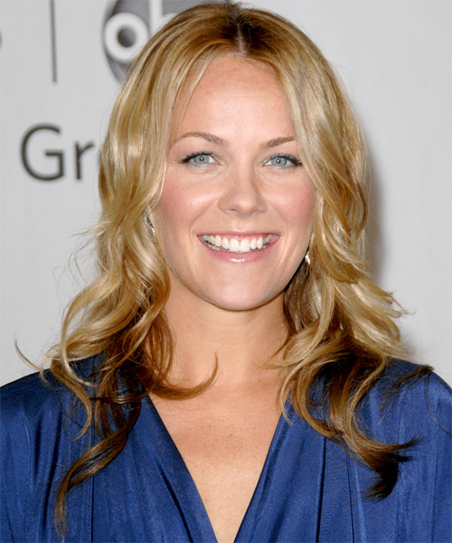 Andrea Anders Long Wavy Casual   Hairstyle
