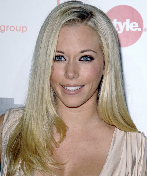 Kendra Wilkinson Long Straight Formal    Hairstyle