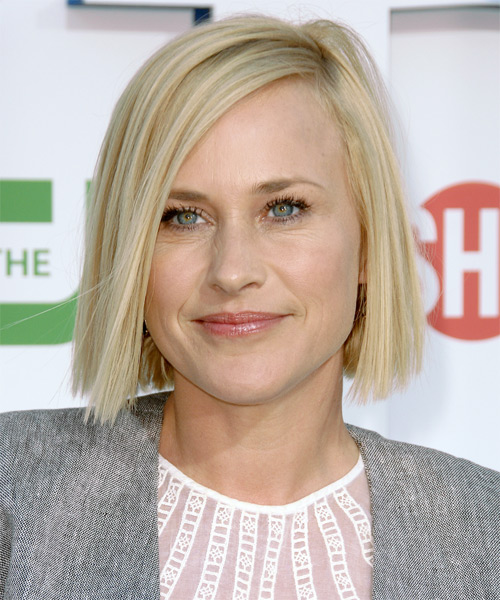 Patricia Arquette Medium Straight Icy Blonde Hairstyle