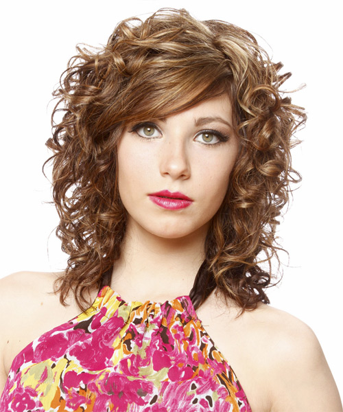 Long Curly   Light Chestnut Brunette   Hairstyle