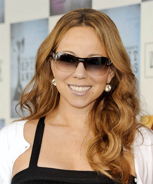 Mariah Carey Long Wavy Casual   Hairstyle