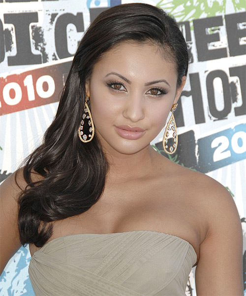 Francia Raisa Long Wavy Formal   Hairstyle