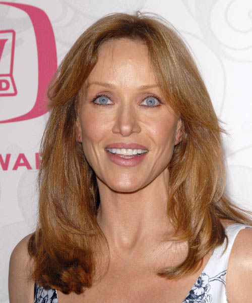 Tanya Roberts Long Straight Casual   Hairstyle