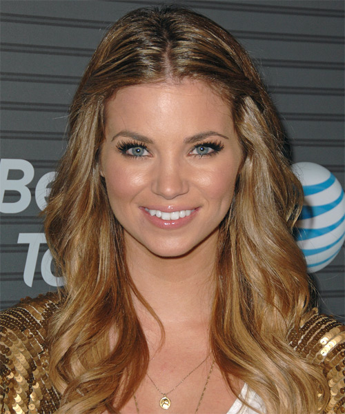 Amber Lancaster Half Up Long Curly Casual  Half Up Hairstyle