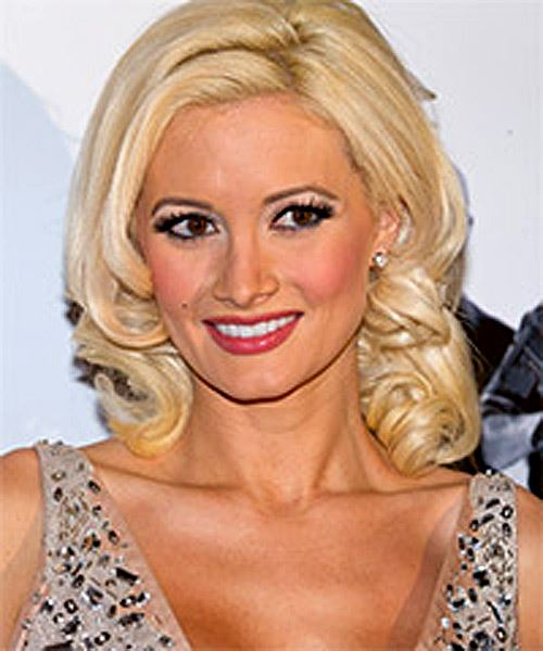Holly Madison Medium Wavy Formal    Hairstyle