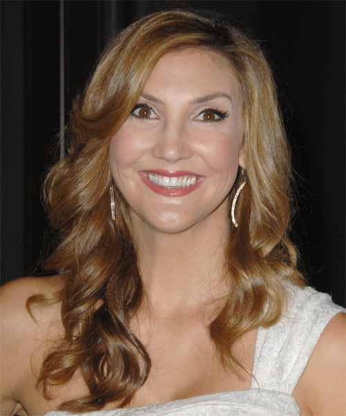 Heather McDonald Long Wavy Formal   Hairstyle