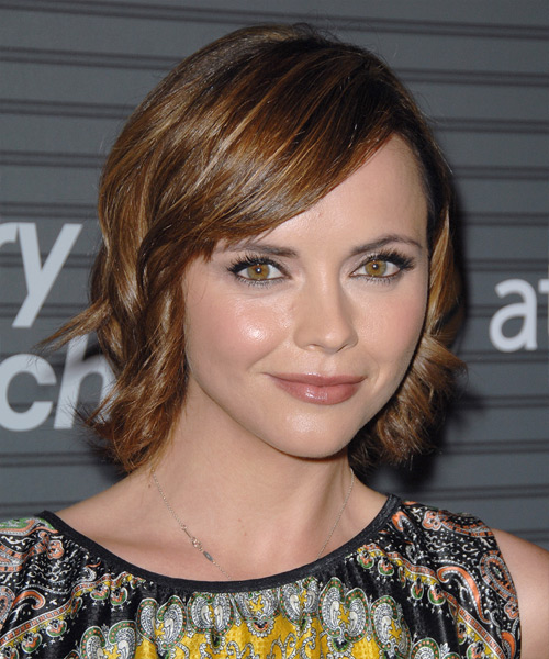 Christina Ricci Medium Wavy Formal   Hairstyle