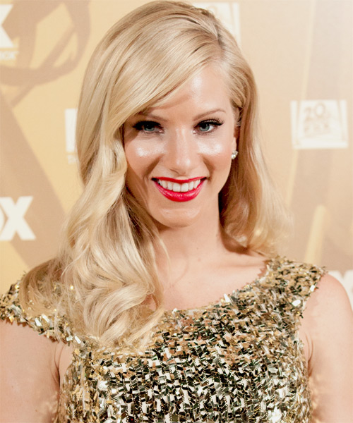 Heather Morris Long Wavy Formal   Hairstyle