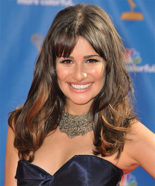 Lea Michele Long Straight Casual   Hairstyle