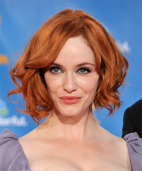 Christina Hendricks Medium Wavy Casual    Hairstyle