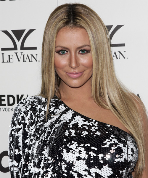 Aubrey O Day Long Straight Casual   Hairstyle