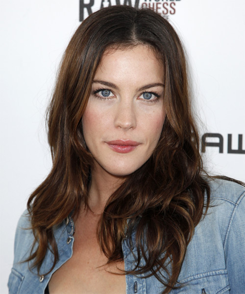 Liv Tyler Long Straight Golden Brunette Hairstyle