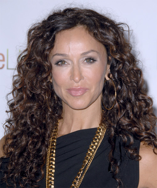 Sofia Milos Long Curly Casual   Hairstyle