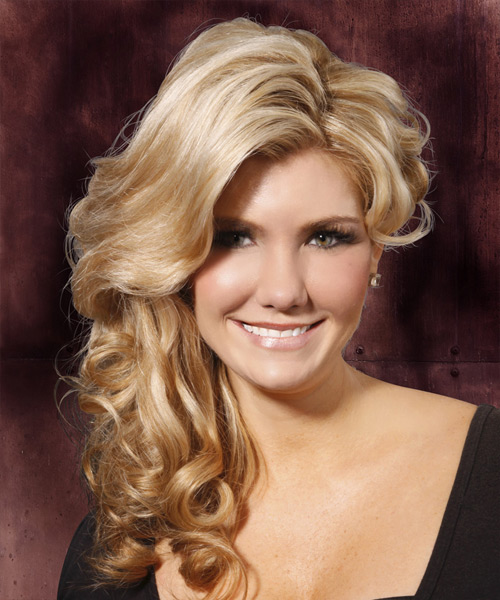 Long Wavy Formal  Half Up Hairstyle