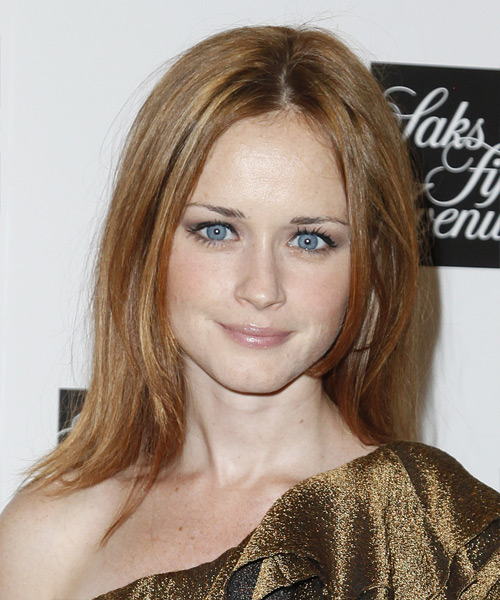Alexis Bledel Casual Medium Straight Hairstyle