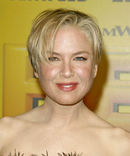 Renee Zellweger Short Straight Casual    Hairstyle
