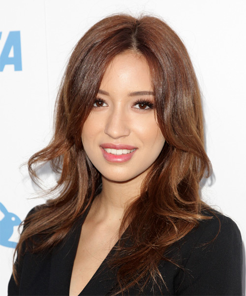 Christian Serratos Long Wavy Formal   Hairstyle