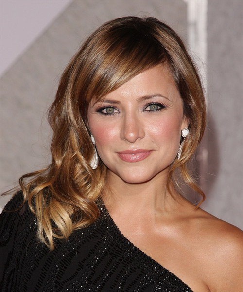 Christine Lakin Long Wavy Casual   Hairstyle