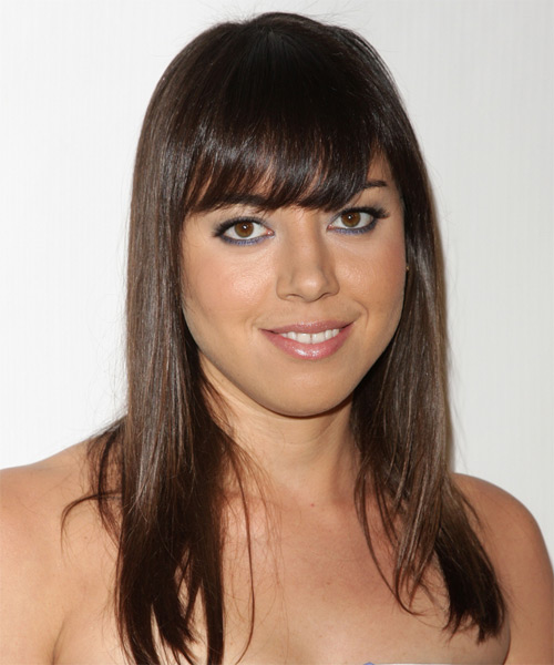 Aubrey Plaza Long Straight Casual   Hairstyle
