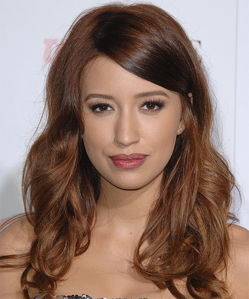Christian Serratos Long Wavy Casual   Hairstyle