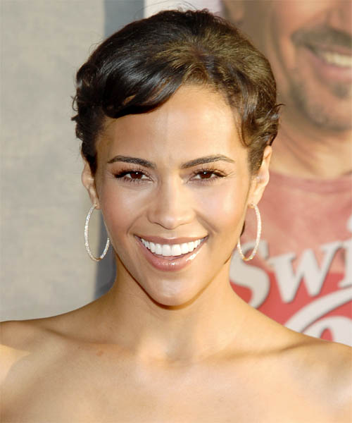 Paula Patton Long Straight Casual Updo Hairstyle