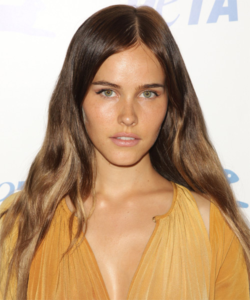 Isabel Lucas Long Straight Casual    Hairstyle   - Light Golden Brunette Hair Color