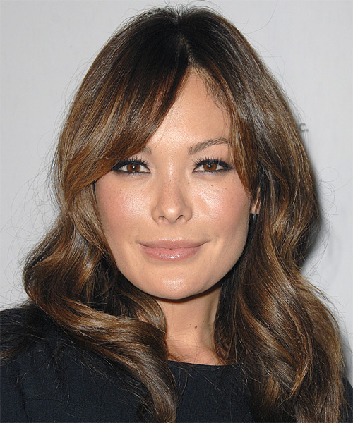 Lindsay Price Long Straight Casual   Hairstyle   - Medium Brunette