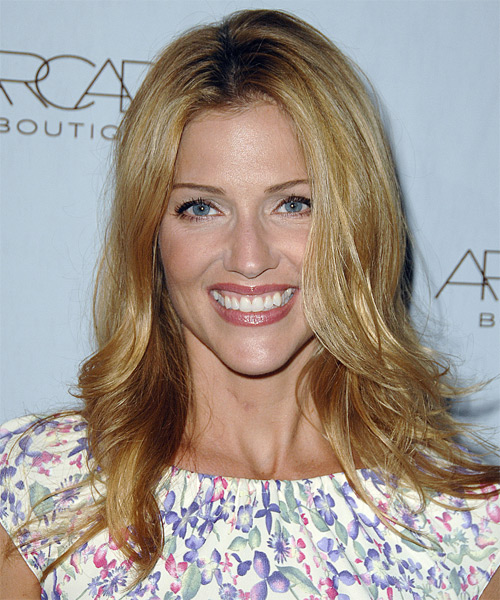Tricia Helfer Long Straight Casual   Hairstyle