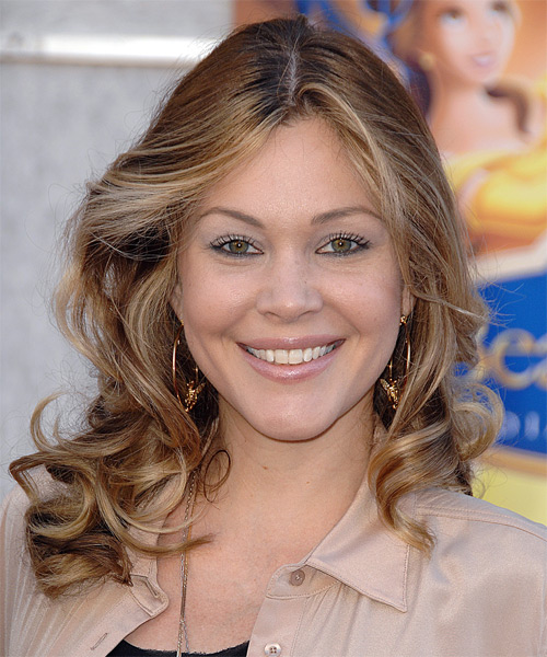 Shanna Moakler Long Wavy Formal   Hairstyle