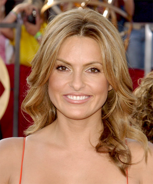 Mariska Hargitay Long Wavy Formal    Hairstyle   -  Honey Blonde Hair Color