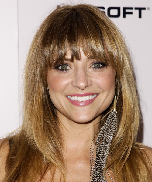 Christine Lakin Long Straight Casual   Hairstyle