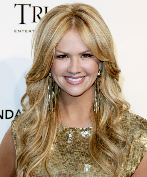 Nancy O Dell Long Wavy Formal    Hairstyle   - Medium Blonde Hair Color